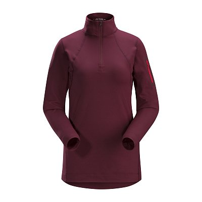 Rho LT Zip Neck Womens Merbau